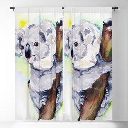 Koala watercolor by Anne Gorywine Blackout Curtain