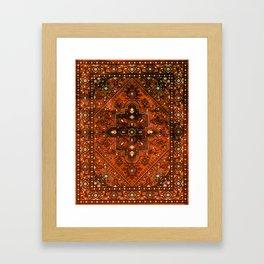 N151 - Orange Oriental Vintage Traditional Moroccan Style Artwork Framed Art Print