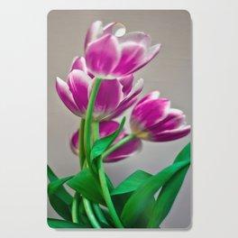 Pink Tulips Cutting Board
