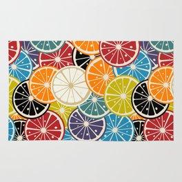 Lemon slice colored pattern Rug
