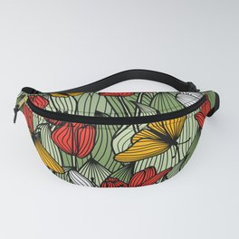 Tulips and Butterflies Fanny Pack