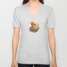 """There's a sheep in my transmogrifier!"" Unisex V-Neck"