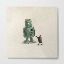 Robot Vs Alien Metal Print