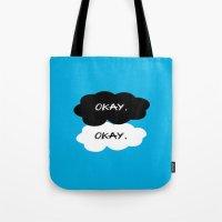 tfios Tote Bags featuring Okay? Okay. TFIOS by JLaragan