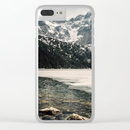 Morskie Oko In Snow Clear iPhone Case
