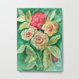 Floral Fusion Metal Print