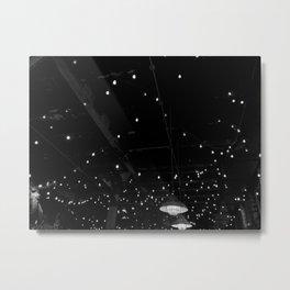 Black and white Cafe lights Metal Print
