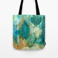 waterfall Tote Bags featuring Waterfall by Rosie Brown