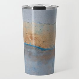 Wall Stucco Texture Cuba Caribbean Paint Casa Grunge Distressed Abstract Blue Vintage Chippy Shabby Travel Mug
