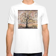 Graffiti Tree Mens Fitted Tee MEDIUM White