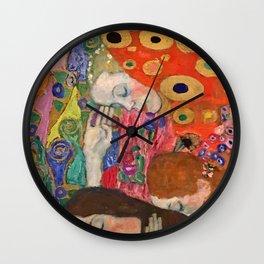 "Gustav Klimt ""Hope II"" (detail) Wall Clock"