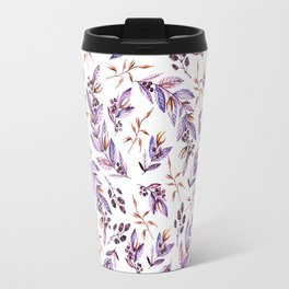 Blush pink lavender watercolor hand painted floral pattern Travel Mug