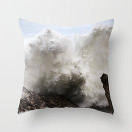Exploding Waves Throw Pillow