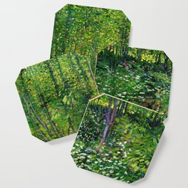 Vincent Van Gogh Trees and Undergrowth 1887 Coaster