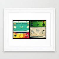 vw Framed Art Prints featuring VW Collage by RDelean