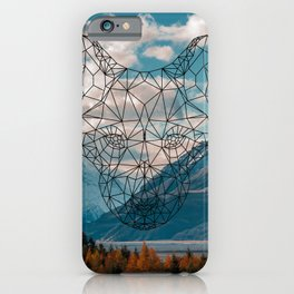 Wolf nature mountain iPhone Case