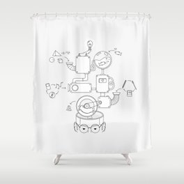 How the creative brain works? Shower Curtain
