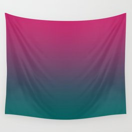 Pink Green Gradient Pattern Wall Tapestry
