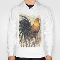 rooster Hoodies featuring Rooster by Villarreal