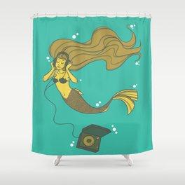 The Vinyl Mermaid Shower Curtain