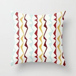 Jagged Stripes Throw Pillow