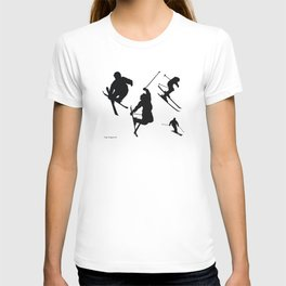 Skiing silhouettes T-shirt