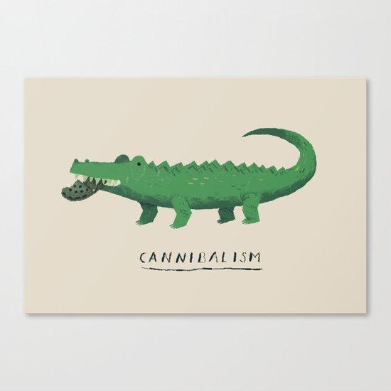 croc cannibalism Canvas Print