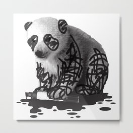 WANT TO BE A PANDA - cute animal artwork Metal Print