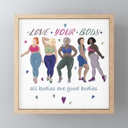 Love your body Framed Mini Art Print