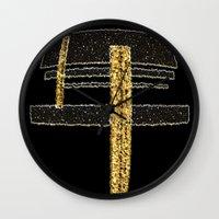 metal Wall Clocks featuring Metal by Maria Julia Bastias