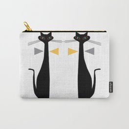 Mid-Century Modern Art Cat Double 1.0T Carry-All Pouch
