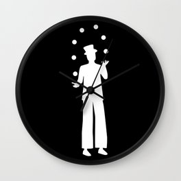 Stiltwalker juggling Wall Clock