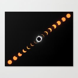 Composite of Total Solar Eclipse 2017 (8 by 10 inches) Canvas Print