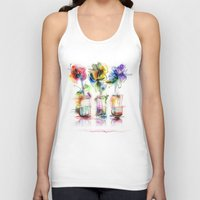 card Tank Tops featuring card by tatiana-teni