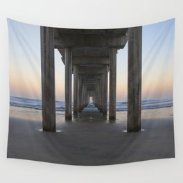 Scripps Pier at Sunrise (Digital) Wall Tapestry
