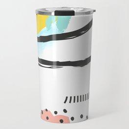 Modern Fashion Abstract Art Poster Travel Mug