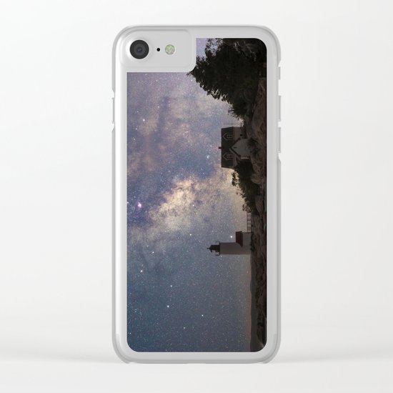 Photoart Lighthouse under the stars Clear iPhone Case