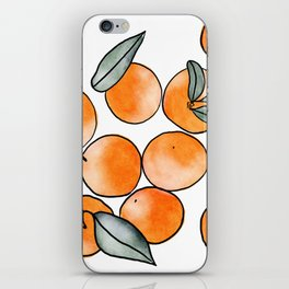 Watercolor Clementines iPhone Skin