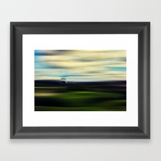 A ball of loneliness in my heart Framed Art Print