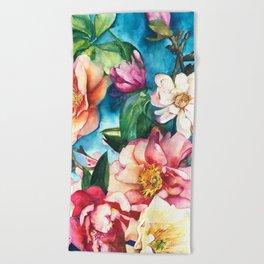 Tropical Floral I Beach Towel