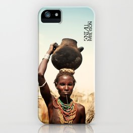 omo valley tribal woman  iPhone Case