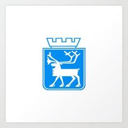 flag of Tromsø Art Print