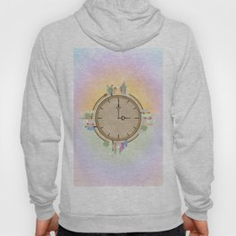 Time goes around Earth , or Earth goes around Time. Hoody
