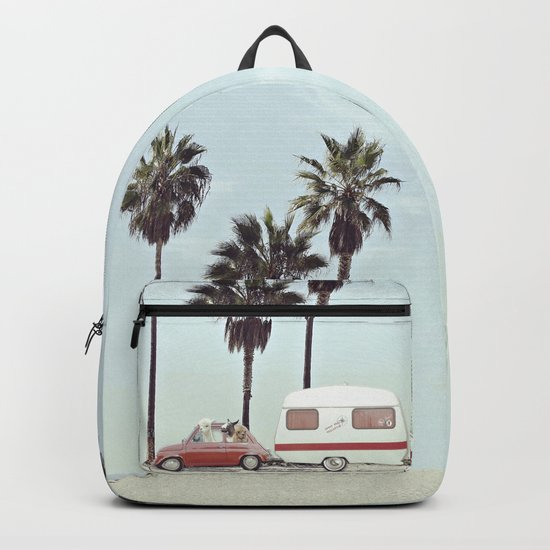 NEVER STOP EXPLORING - CAMPING PALM BEACH Backpack