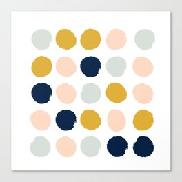 Dot minimal trendy color palette gold silver metallic minimal home decor Canvas Print