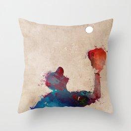 Baseball player 7 #baseball #sport Throw Pillow