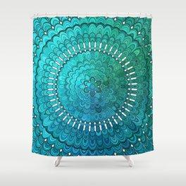 Turquoise Mandala Shower Curtain