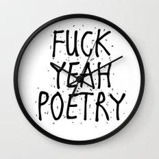 F*CK YEAH POETRY Wall Clock