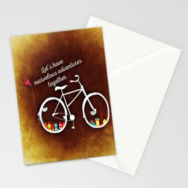 Let's Have Adventures (Cycling) Stationery Cards