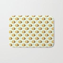 Busy Bee Pattern Bath Mat